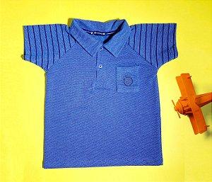Gola Polo Infantil Raglan Azul