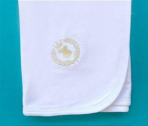 Manta Bebê Cotton Cor Branco