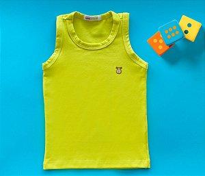 Camiseta Infantil Cotton Cor Amarelo Claro