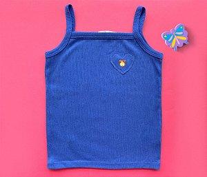 Blusa Regata Coração Cor Azul