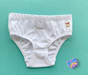 Calcinha Infantil Cotton Cor Branco