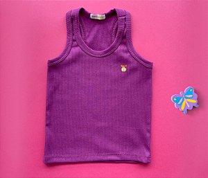 Camiseta Infantil Malha Canelada Cor Roxo