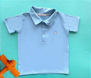Camisa Gola Polo Infantil Cotton Cor Azul Claro