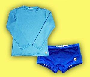 Combo Camisa Proteção Azul + Sunga Azul
