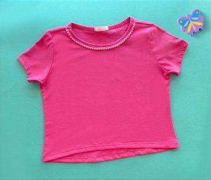 Blusa infantil básica Pink