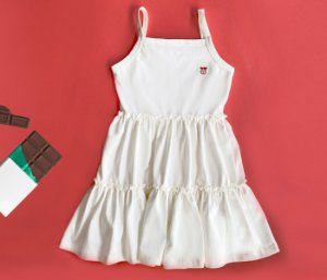 Vestido infantil Off White