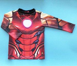 Camisa Proteção UV+ Estampa Homem De Ferro