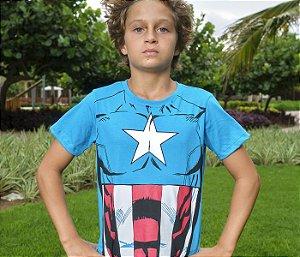 Camisa Super Herói Capitão America