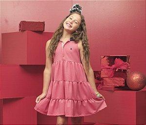 Vestido Piquet Free Vermelho