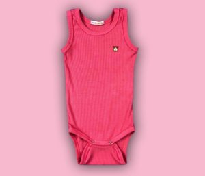 Body Bebê Básico Canelado Cor Rosa