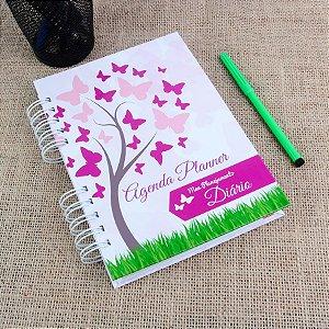 Agenda Planner Personalizada Árvore de Borboletas | Personalize a Capa e Mês de Início |Ver Descrição | M18