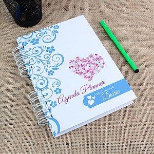 Agenda Planner Personalizada Coração | Personalize a Capa e Mês de Início |Ver Descrição | M04