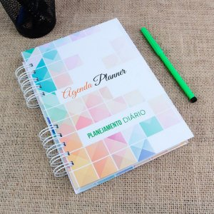 Agenda Planner Personalizada | Personalize a Capa e Mês de Início |Ver Descrição | M34