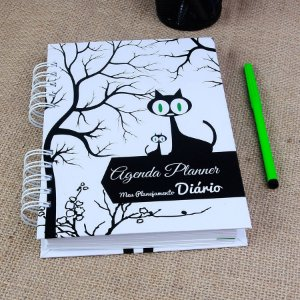 Agenda Planner Personalizada Gatinhos | Personalize a Capa e Mês de Início |Ver Descrição | M55
