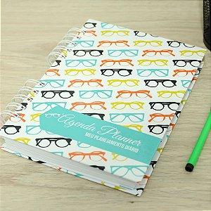 Agenda Planner Personalizada Óculos | Personalize a Capa e Mês de Início |Ver Descrição | M68
