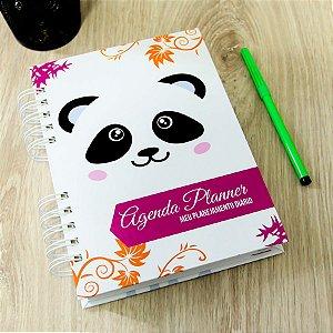 Agenda Planner Personalizada Urso Panda | Personalize a Capa e Mês de Início |Ver Descrição | M69