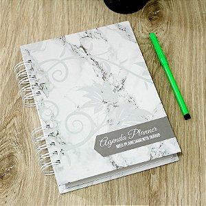 Agenda Planner Personalizada Mármore | Personalize a Capa e Mês de Início |Ver Descrição | M80