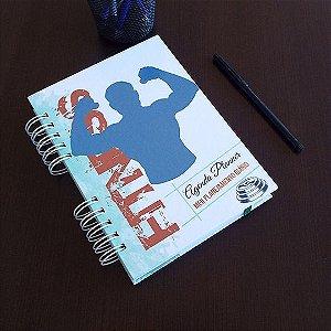 Agenda Planner Personalizada Fitness | Personalize a Capa e Mês de Início |Ver Descrição | M93