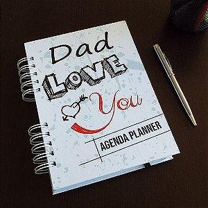 Agenda Planner Personalizada  Dia dos Pais | Personalize a Capa e Mês de Início |Ver Descrição | R01