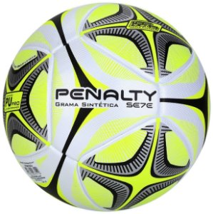 Bola Society Penalty Sete Pró Ko X Branca e Amarela