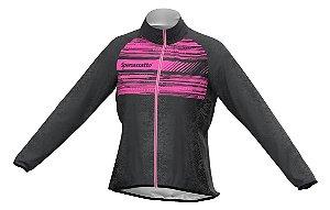 Jaqueta Corta Vento Para Ciclismo Pink Neon Feminina