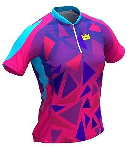 Camisa De Ciclismo Feminina Geometric