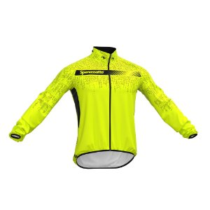 Jaqueta Corta Vento Para Ciclismo Masculina Digital Neon Amarela