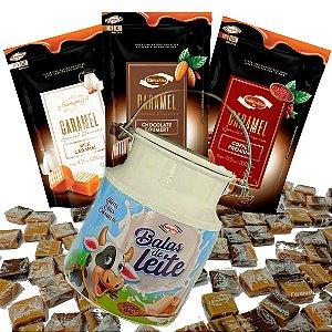Combo Caramelos Gourmet + Lata Decorativa Leiteira -  Santa Rita