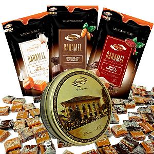 Combo Caramelos -  Gourmet + Lata Decorativa Retrô -  Santa Rita