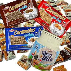 Combo Caramelos -  Tradicionais + Lata Decorativa Leiteira -  Santa Rita