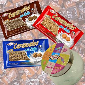 Combo Caramelos -  Tradicionais + Lata Decorativa Retrô -  Santa Rita