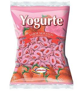 Bala Santa Rita Mastigável Yogurte Morango 600g