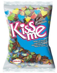 Bala Kiss Me Recheada Sortida 600g -  Santa Rita