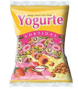 Bala Santa Rita Mastigável Yogurte Sortido 600g