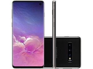 "Smartphone Samsung Galaxy S10 128GB 4G - 8GB RAM Tela 6,1"" Câm. Tripla + Câm. Selfie 10MP"