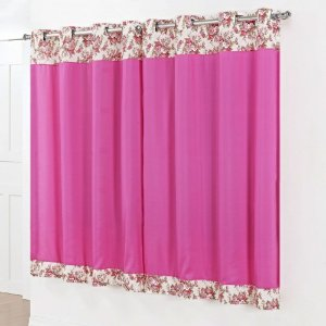 Cortina Amazon 2,00x1,80m para Varão Simples - Pink