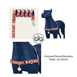 Conjunto Dog U - Peitoral Educativo Dubai e Guia Dubai - G