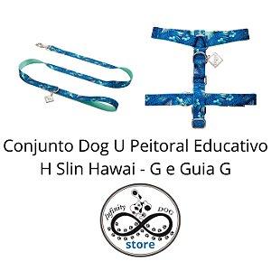 Conjunto - Peitoral Educativo H Slim Hawai e Guia - G