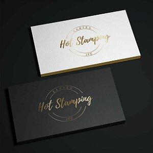 Cartão Hot Stamping (Dourado/ Prateado) - 1.000 unidades