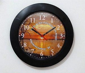 Relógio de Parede Maior - Pôr do Sol