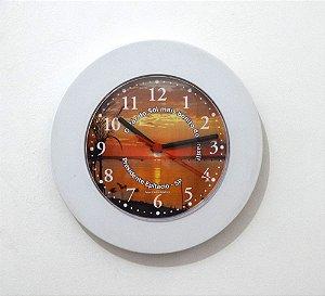 Relógio de Parede Redondo Borda Larga - Pôr do Sol