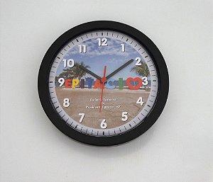 Relógio de Parede Redondo Borda Fina - Letreiro