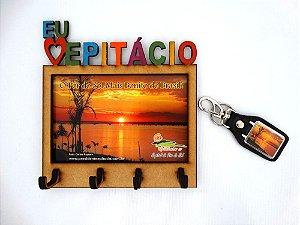 Porta chave Pôr do Sol + Chaveiro de Couro