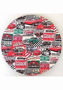 Capa para Sousplat Carros Vermelho