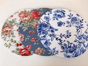 Capa para Sousplat Floral