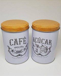 Kit Latas Café Açúcar Pequenas