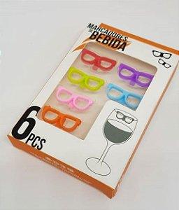 Marcador de Copo Óculos
