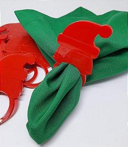 Porta Guardanapo Acrílico Papai Noel