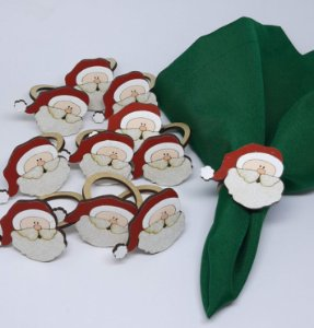 Porta Guardanapo Papai Noel em MDF