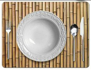 Lugar Americano Plástico Bambu